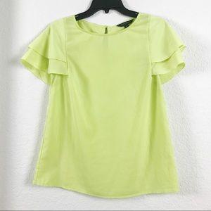 Banana Republic Lime Green Short Sleeve Blouse